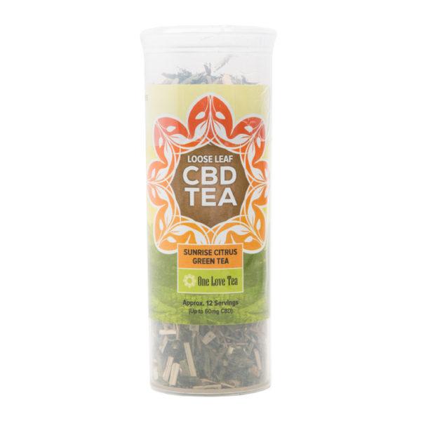 cbd tea sunrise citrus green tea